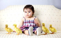 Lyla with Ducklings