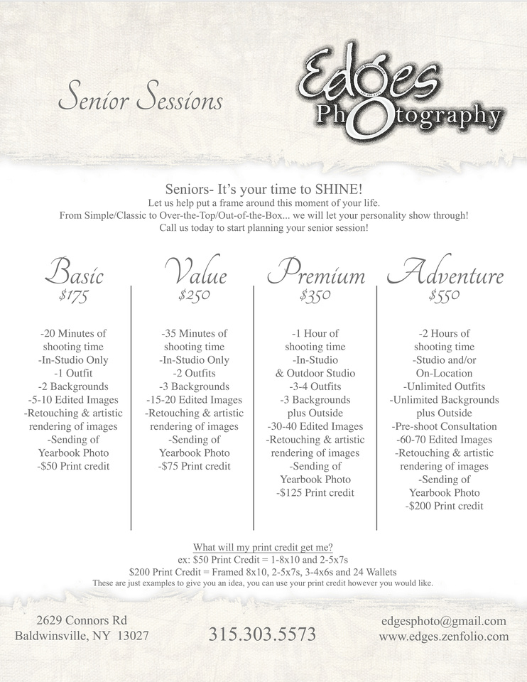 Wedding Photography Pricing Packages: Edges Photography
